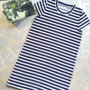 NWOT MADEWELL Striped Velvety Tee Mini Dress